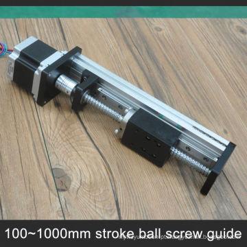 Trilho de guia linear barato do Cnc com o parafuso da bola do passo de 10Mm