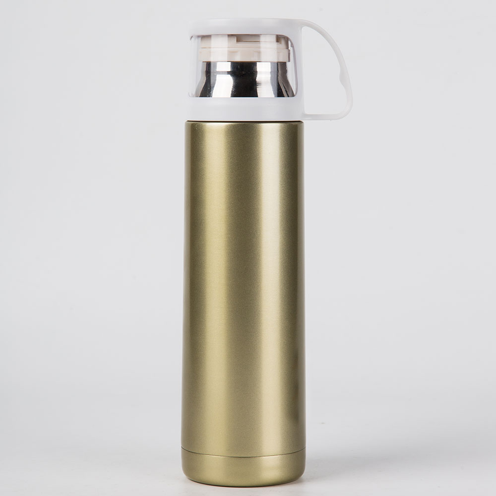 Vacuum Insulating Drink Hot Water Bottle with Cup