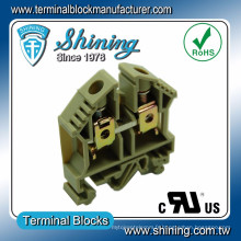 TF-16 35mm DIN Rail monté 600V 65A Screw Clamp Wire Connector