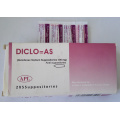 GMP Certificated Suppositories, Pharmaceutical Drugs, Diclofenac Sodium Suppositories