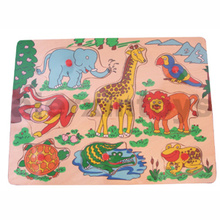 Wooden Puzzle with Zoo Animals (81006)