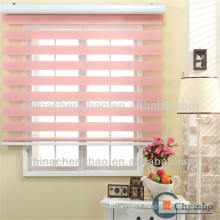 2016 pink double layer softtextile fabric zebra roller blinds
