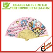 Fã barato da mão do papel do logotipo feito sob encomenda da promoção