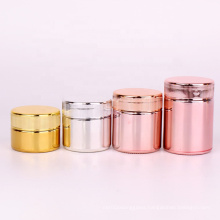 electroplating 40ml 80ml 90ml 100ml 2oz 3oz Child Resistant spice glass jar with childproof lids