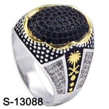 Neues Modell 925 Silber Herren Ring mit kleinem CZ (S-13088, S-13097D, S-13028D, S-13078W, S-13084D, S-13080)