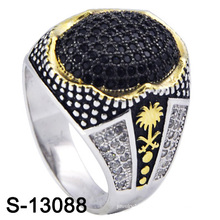 New Model 925 Silver Men Ring with Small CZ (S-13088, S-13097D, S-13028D, S-13078W, S-13084D, S-13080)