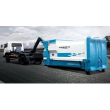 Carregamento do sistema hidráulico no veículo de transferência de lixo