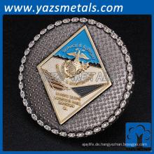 Gewohnheit antike Messing Herausforderung Andenken Militär Marine Luft Kraft Metall Münze