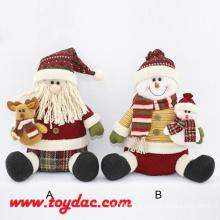 Multi Color Plush Santa Claus