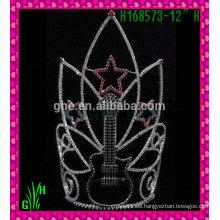 Corona del Rhinestone de los nuevos diseños Corona grande al por mayor de la tiara de la boda