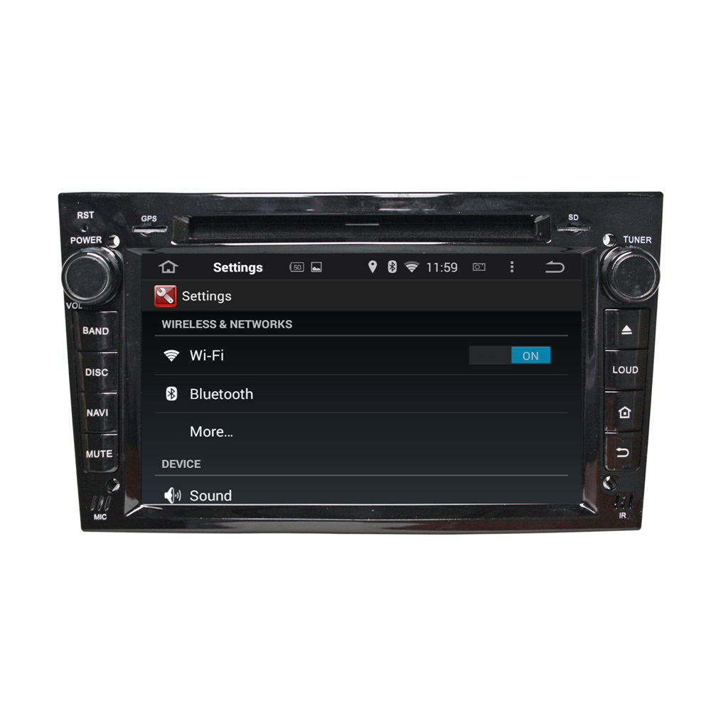 Black Opel VECTRA 2005-2008 kereta dvd player