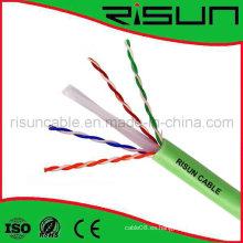 Cable de red CAT6 no blindado con chaqueta de PVC LSZH / Lsoh