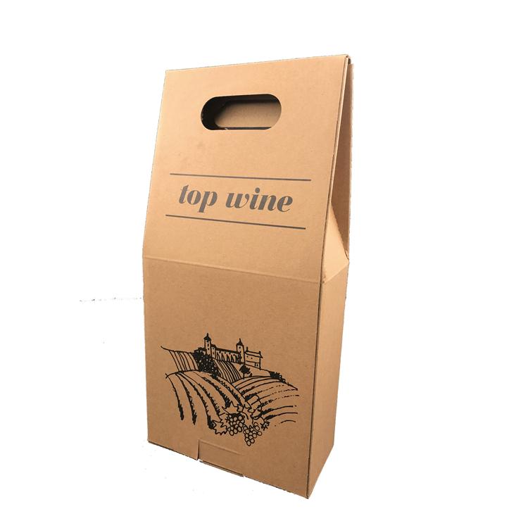 Custom Kraft Paper Packing Single Bottle Wine 3