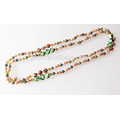 Extra Long Hand Knotted Crystal Pearl Beaded Necklace