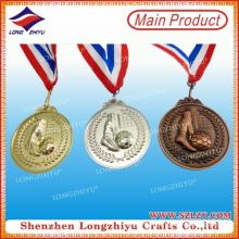 Металлическая 3D-медаль за спортивную игру / футбольный матч