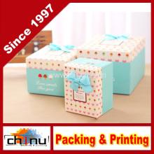 Caja de regalo de papel / caja de embalaje de papel (110245)