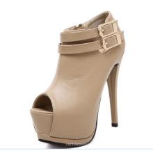 Botas clássicas de tornozelo para mulher com salto alto (Y 41)