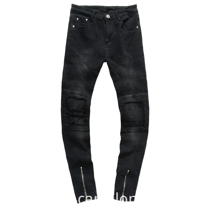 Gray-black Straight Jeans