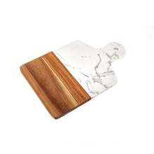 KINDOME Marble and Acacia Wood Cutting Boards Marble and Wood Chopping Boards for Serving Board