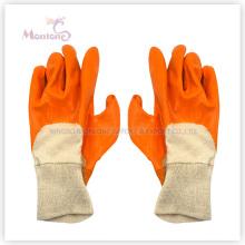 Nitrilo medio recubierto / sumergido guantes de seguridad de trabajo de algodón, guantes de jardín