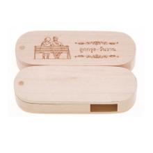 Eco Wholesale Wood Usb Flash Custom USB Flash Drive thumb swivel pendrive 8GB 16GB wood usb 2.0 3.0 memory stick