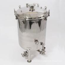Réservoir de bière à 40 gallons Brite avec vannes papillon