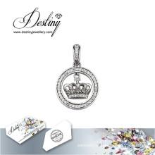 Destino joias cristal de Swarovski colar meu pingente de coroa