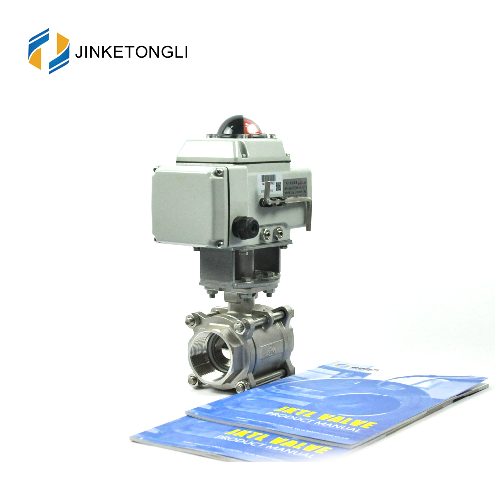 automatic stainless steel high pressure electric ball valve