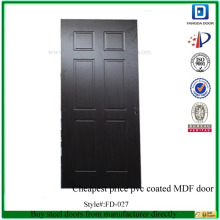 Fangda cheapest price pvc coated MDF door