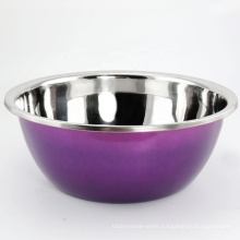 colored painting stainless steel mixing bow set decorative fruit bowl