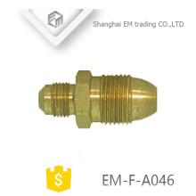 ЭМ-Ф-A046 резьба быстрый разъем медная труба латунный штуцер штепсельной вилки