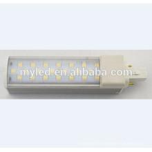 Nouvelle arrivée e27 g24 conduit lumière horizontale 6w 8w 10w 11w 12w