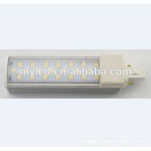 New Arrival e27 g24 led horizontal plug light 6w 8w 10w 11w 12w