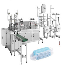 3 Ply Non Woven Folded Automatic Disposable Face Mask Production Machine