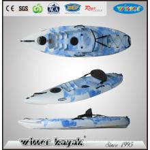 Nivel de entrada sentarse en la parte superior Kayak de plástico con paleta