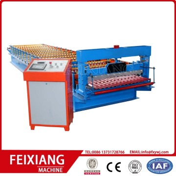 Color corrugated wall and roof roll forming machine