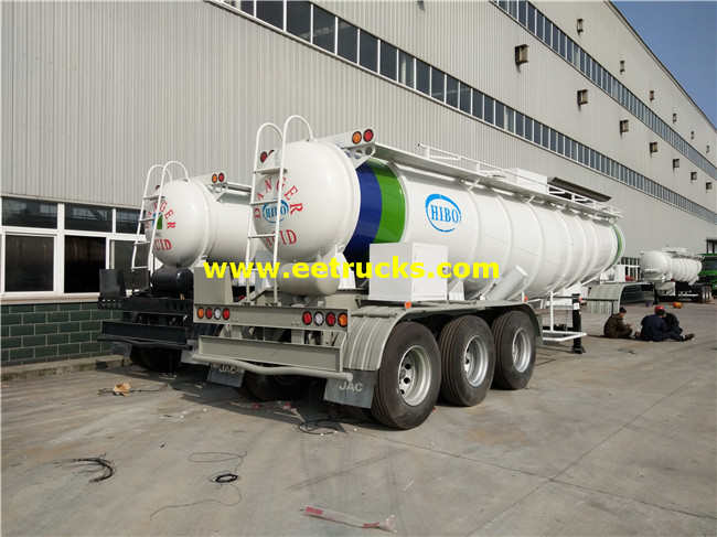19,000L Sulfuric Acid Transport Semi-Trailers