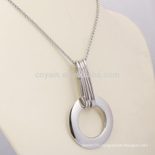 Custom Stainless Steel Silver Ring Pendant Necklace