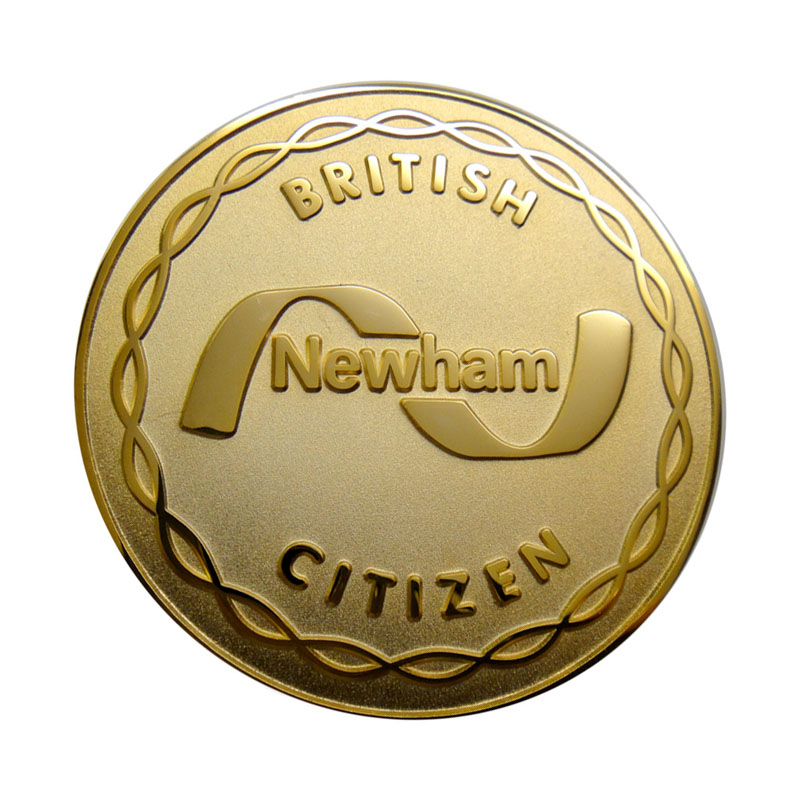 British Newham Citizen Metal Product Coin