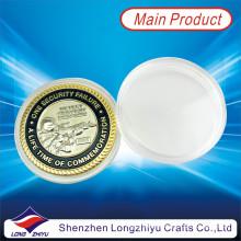 Monnaies métalliques militaires en métal à double plaquage en or et en argent (LZY1300032)