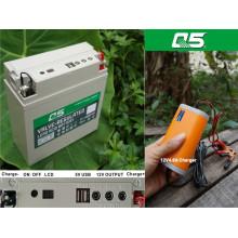 12V18AH La batería va con el inversor Utilice el plan de fuente al aire libre de la fuente de alimentación (multiusos) del voltaje bajo 12V