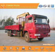 SHACMAN 6*4 12tons vehicle with crane