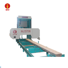 Horizontal bandsaw mill for cutting wood