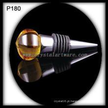 Dourado Royal rolha de garrafa de vinho de cristal coroa