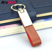 Diseñador llaveros accesorios cuero llave colgador, cuero lazo llavero