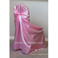 self-tie back chair cover,CT341 satin chair cover,universal chair cover
