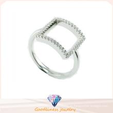 2015 cuadrados de diseño de joyería de moda 925 anillo de plata de ley (R10322)
