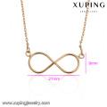 43676 18 k or collier en gros de mode pas cher delicat élégant simple plaqué or bijoux collier