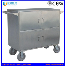Stainless Steel Hospital Emergency Trolley