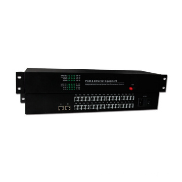 HongRui factory price telephone optical fiber converter pcm 30 channel multiplexer